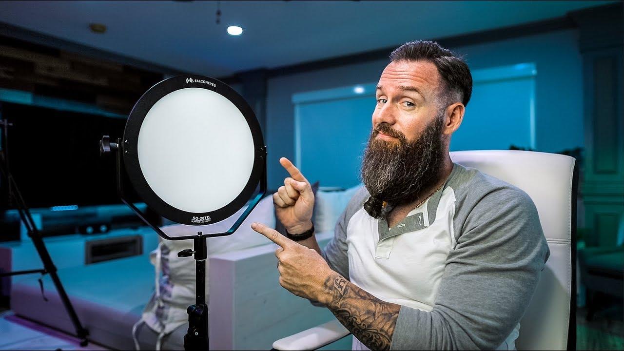 GREAT Soft LED for YouTube, Studio, Travel! - FalconEyes SO-28TD LED Panel