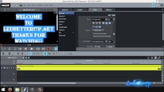 How To Do Intro Titles And Effects In Magix Movie Edit Pro 2015
