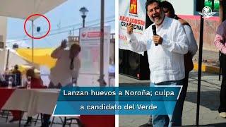 """En un acto de campaña en Huichapan, el legislador del PT fue agredido y calificó el hecho como """"un acto de provocación por parte de Emeterio Moreno Magos"""""""