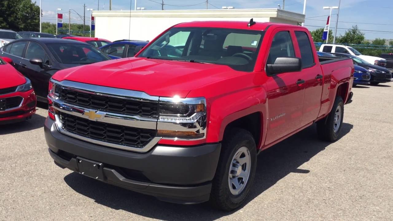 2016 chevrolet silverado work truck 2wd double cab red hot roy nichols motors courtice on youtube