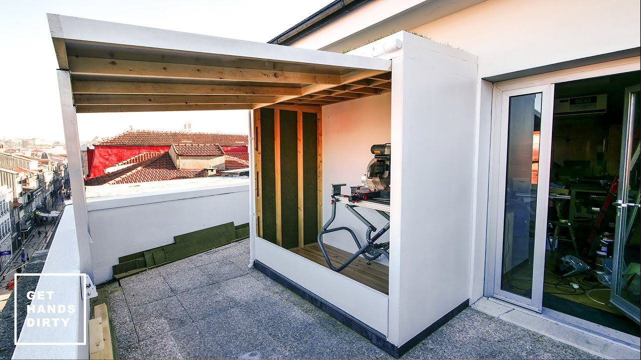 Building a Shed with a Green Roof