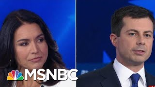 Pete Buttigieg And Tulsi Gabbard Call Each Other Out Over Inexperience | MSNBC
