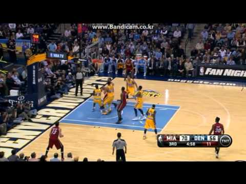 Miami's Shane Battier 10 three pointers vs DEN&PHX