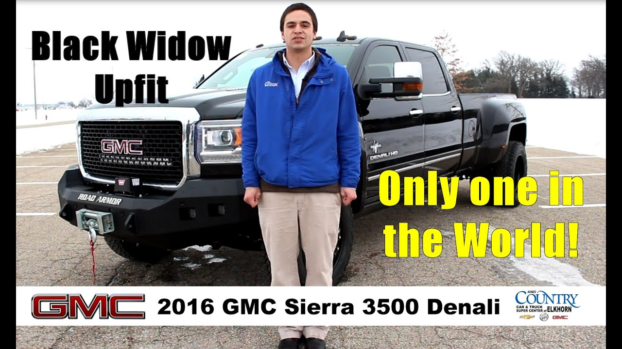 2016 gmc sierra 3500 denali drw dually black widow custom. Black Bedroom Furniture Sets. Home Design Ideas
