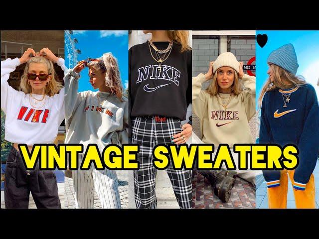 Carne de cordero Tranvía En cantidad  Where I Buy my Vintage Nike sweaters - YouTube