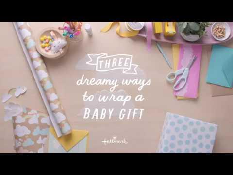 Three Dreamy Ways to Wrap a Baby Gift & Three Dreamy Ways to Wrap a Baby Gift - YouTube