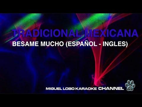 BESAME MUCHO (version Esp - Ing) - Karaoke Channel Miguel Lobo