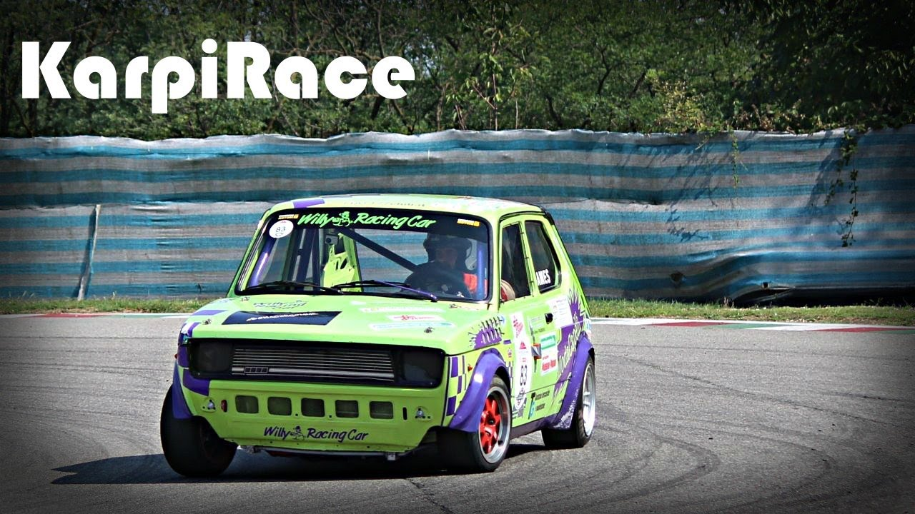 Fiat 127 Abarth Race Car Action On Track Youtube