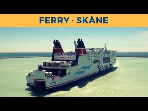 Arrival of train ferry SKÅNE in Trelleborg (Stena Line)