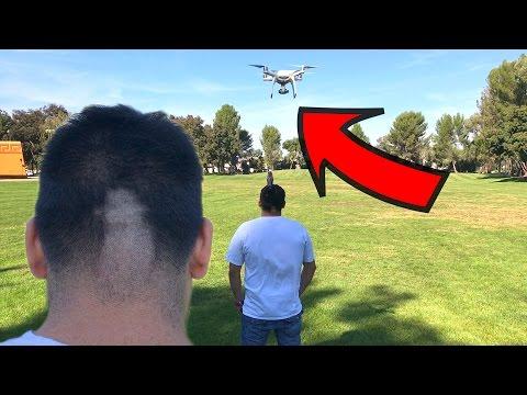 CORTANDO EL PELO CON UN DRONE!?!? (HotSpanish Vlogs)