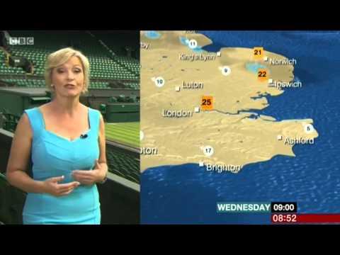 Carol Kirkwood BBC Breakfast Weather 1/7/15