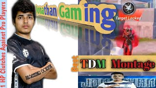 Jonathan Gaming Best TDM Montage | Jonathan Gaming Jiggle Movement | Best Two Thumb Player in India