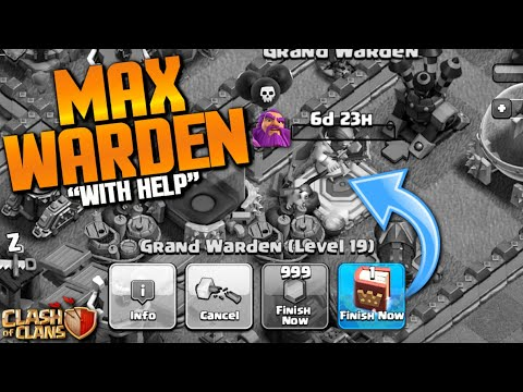 MAX WARDEN!  100% MAXED HEROES!!  TH11 Let's Play | Clash Of Clans