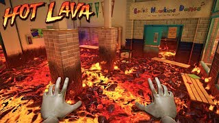 FELL INTO THE LAVA - Hot Lava