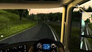 UK Truck Simulator Gameplay - Mercedes Benz Actros V8 Engine