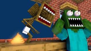 Monster School : BABY SIREN HEAD CHALLENGE - Minecraft Animation