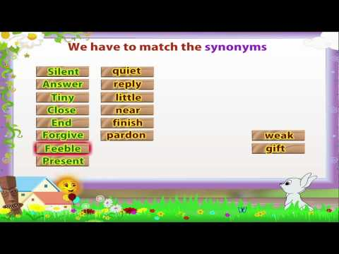 Learn Grade 3 - English Grammar -  Synonyms