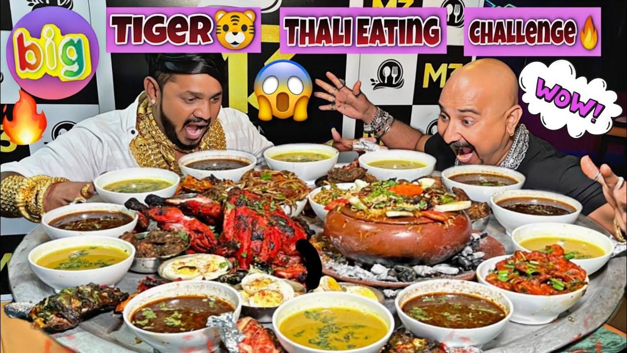 Tiger Thaali Eating 😋 | With Gold Man | Ulhas Kamathe | Chicken Leg Piece