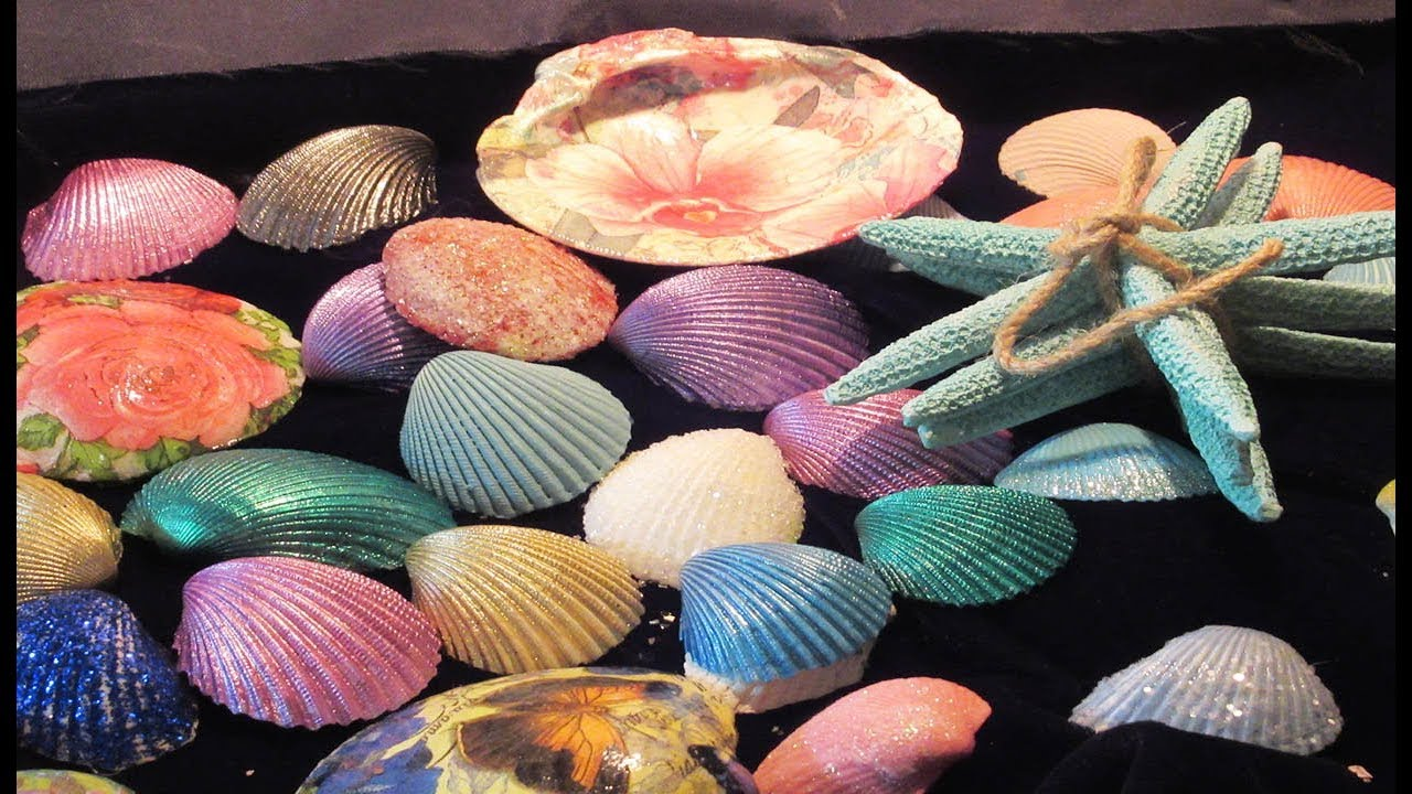 Diy 5 Ways To Decorate Seashells Shells