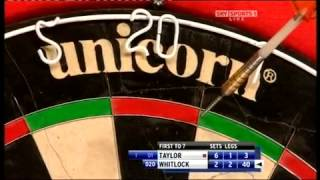 phil 'THE POWER' taylor vs Simon Whitlock INCREDIBLE! (PDC world championship 2010)