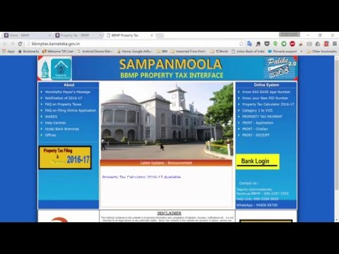 BBMP Property Tax (2016 - 17) online payment issues and errors!!