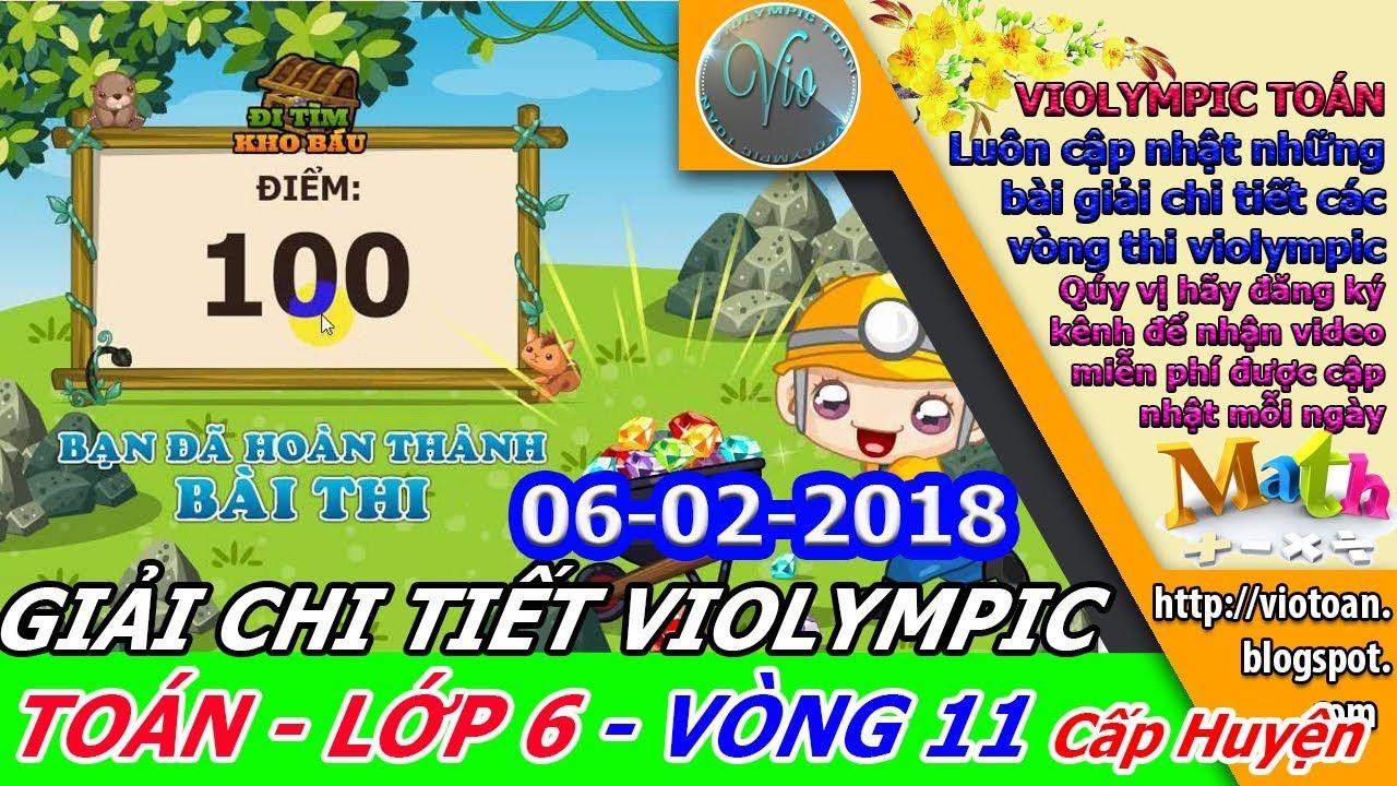 VIOLYMPIC TOÁN LỚP 6 VÒNG 11 NĂM HỌC 2017-2018