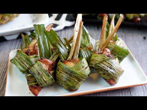 Simplified Way To Wrap • Super Easy Thai Pandan Chicken 香兰鸡 Gai Hor Bai Toey | Thai Chicken Recipe