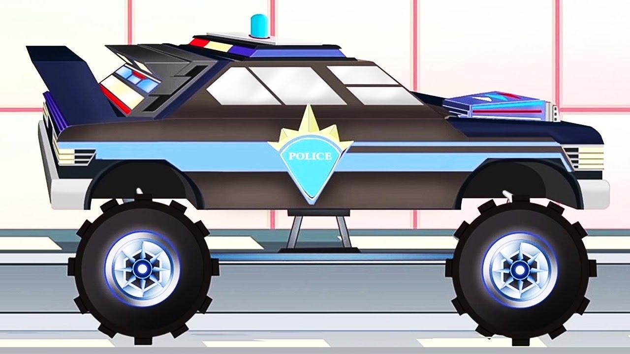 Auto De Policia Pipo Y Su Grua Dibujo Animado Como Minecraft