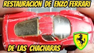 Restoration of an ENZO FERRARI DE LAS CHACHARAS | How to paint with pigments | Custom Mexico