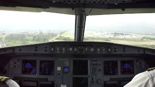 Landing at El Dorado International Airport (SKBO), Airbus A320-200 N688TA Avianca