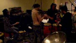 "An Albatross recording overdubs  for ""The Family Album"" Feb. 2008"