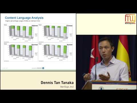 Dennis Tan (VeriSign, Inc.): Internationalized Domain Names... (MLW 7)