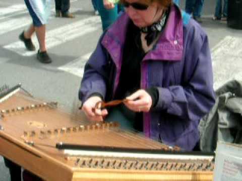 Denise Martin Playing Hammered Dulcimer at Anchora...