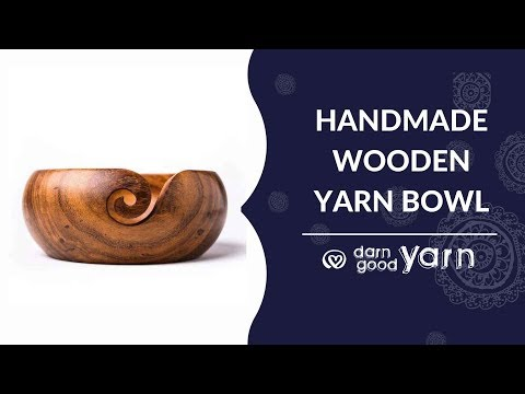 Darn Good Yarn Handmade Wooden Yarn Bowl