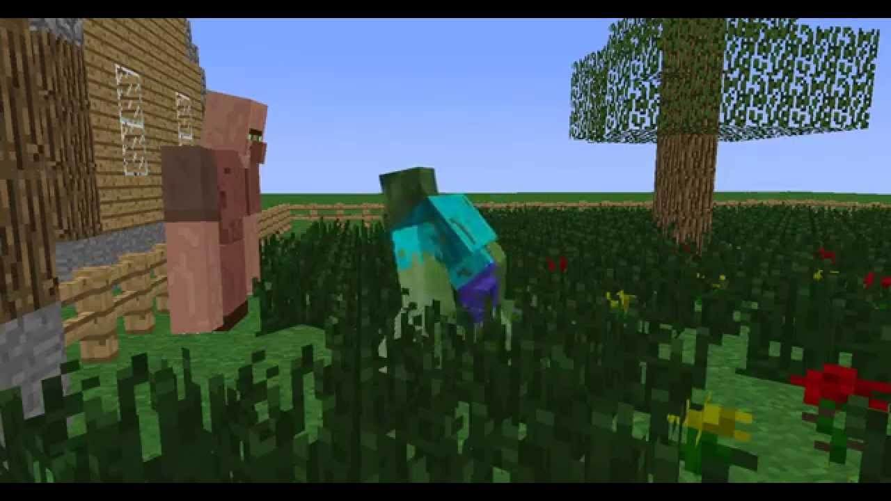 Strong Villager Vs Mutant Zombie Villager Youtube