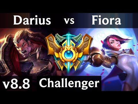 DARIUS vs FIORA (TOP) ~ Legendary, KDA 9/1/1 ~ Korea Challenger ~ Patch 8.8