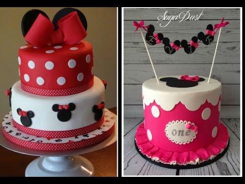Modelos de Bolos  Minie Minnie Rosa e Vermelha Aniversário Festa