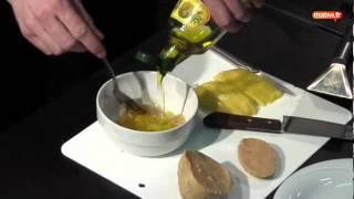 Escalope de foie gras sur un pain perdu au café