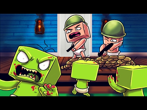 Minecraft | Who's Your Daddy Family? Zombie Apocalypse! (Baby vs Zombies)