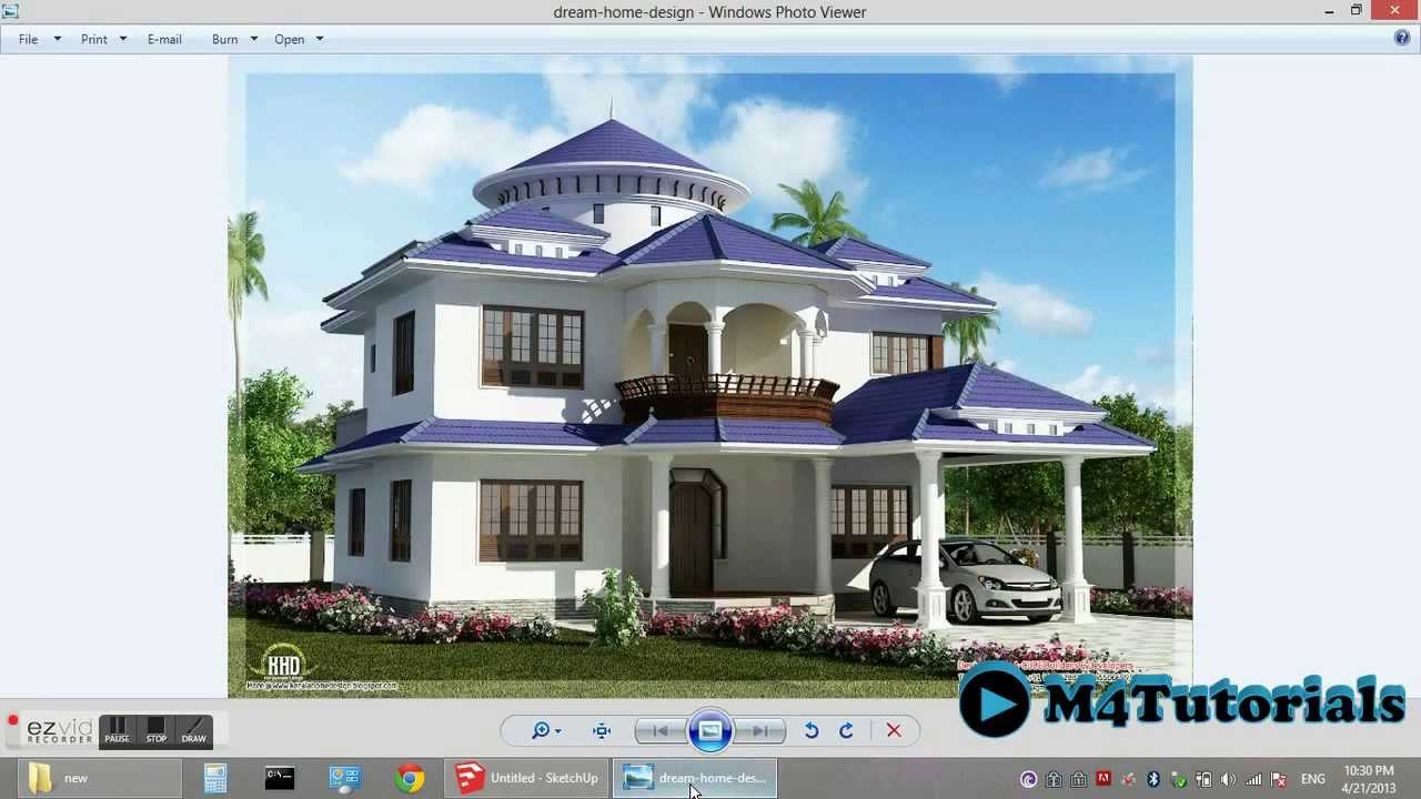 Designing House From The Picture Google Sketchup Part  Youtube