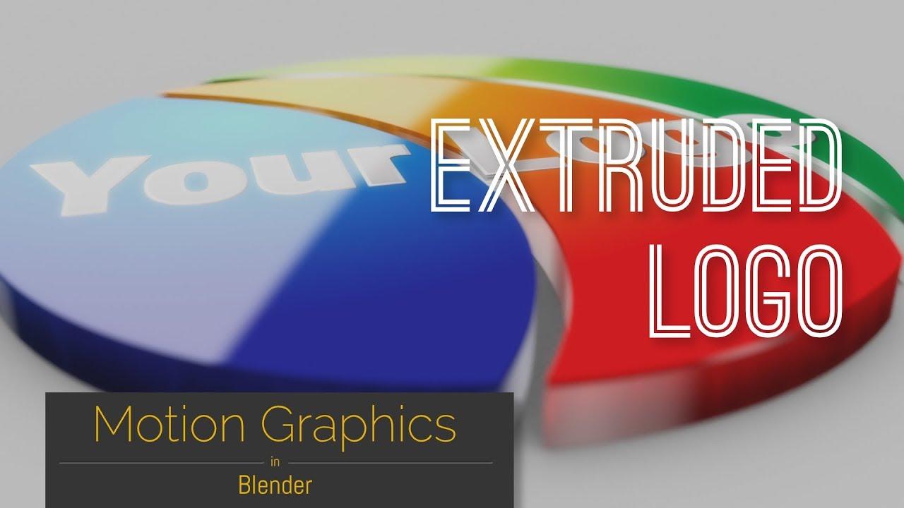 Motion Graphics in Blender: Extruded Logo – Relja Trajković