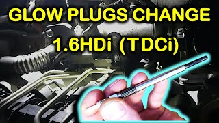 How to replace glow plugs on 1.6HDi/TDCi diesel engines (Peugeot, Citroen, etc.)