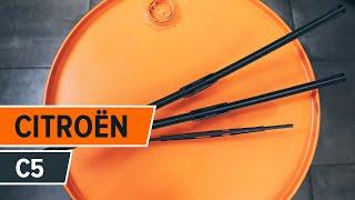 Substituição Escovas de para brisa CITROËN C5: manual técnico