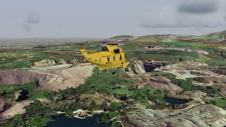 Westland Sea KIng Snowdonia North Wales in FSX