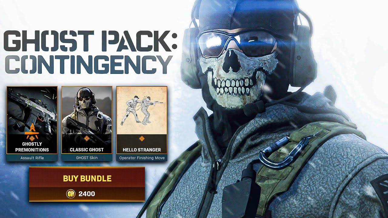 Modern Warfare Warzone Contingency Pack Ghost Bundle Update