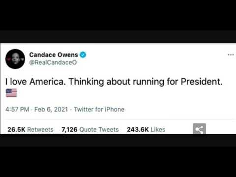 Candace Owens Thinking About Running For President In 2024