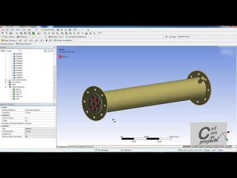 Ansys CFX Shell andTube Heat Exchanger CFD Analysis