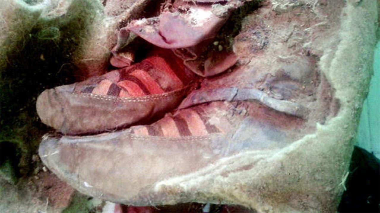 ba6ae7d91 مومياء عمرها 1500 عام ترتدي حذاء أديداس، هل هذا هو السفر عبر الزمن ...