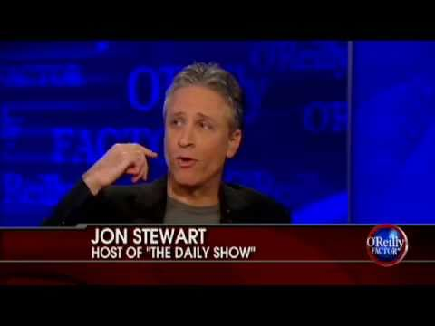 Jon stewart to o reilly if you pulled something out of a box labeled