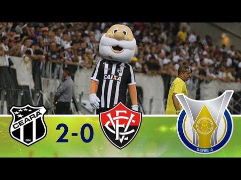 Gols - Ceará 2 x 0 Vitória - Campeonato Brasileiro (15/09/2018)